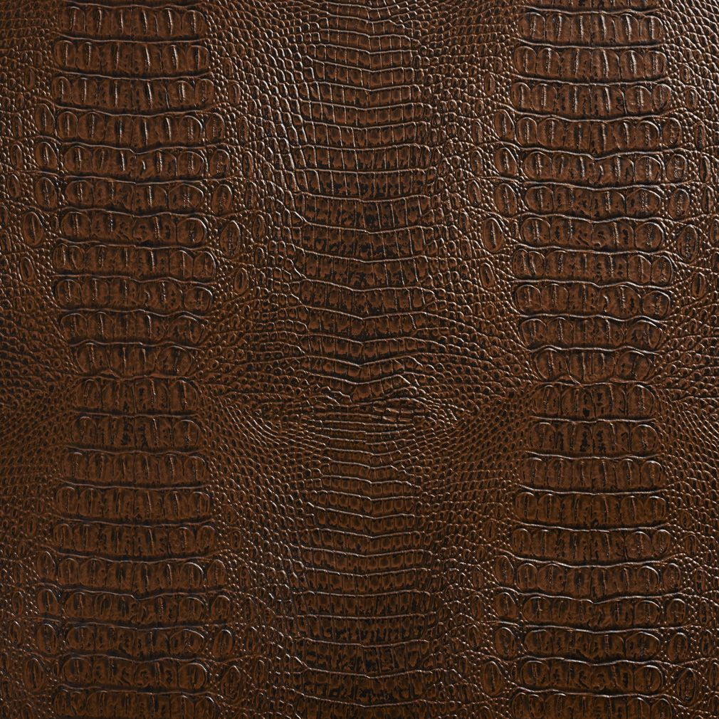 Silver Animal Print Wallpaper Sable Brown Reptile Skin Texture Vinyl Upholstery Fabric