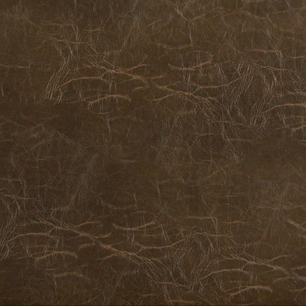 Marsh Brown Distressed Leather Hide Look Soft Vinyl