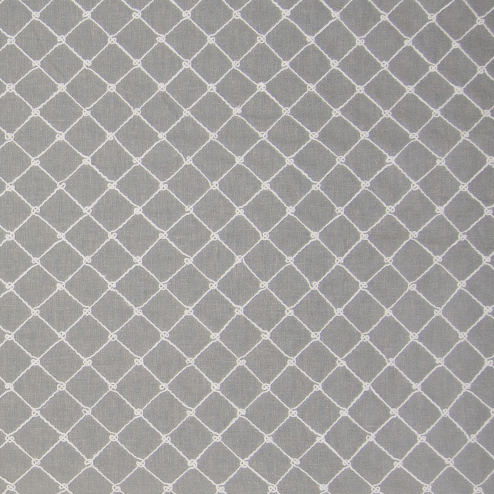 Pewter Gray Diamond Embroideries D Ry And Upholstery Fabric