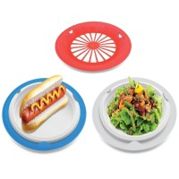 16 Plastic Reusable Paper Plate Holders (Patriotic) - KOVOT