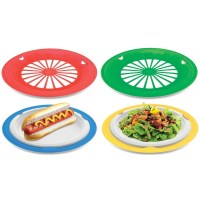 16 Plastic Reusable Paper Plate Holders (Multicolored)