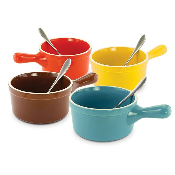 Ceramic Soup Bowls with Handles