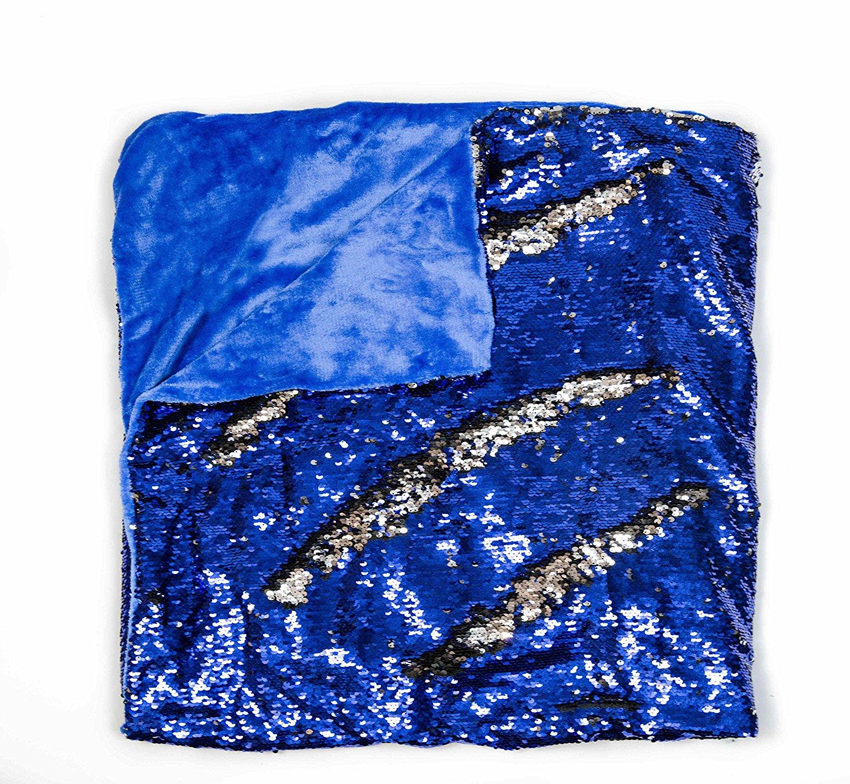 Mermaid Sequin Style Throw Blanket Blue KOVOT
