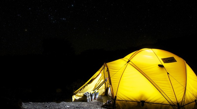 Beneath the tent
