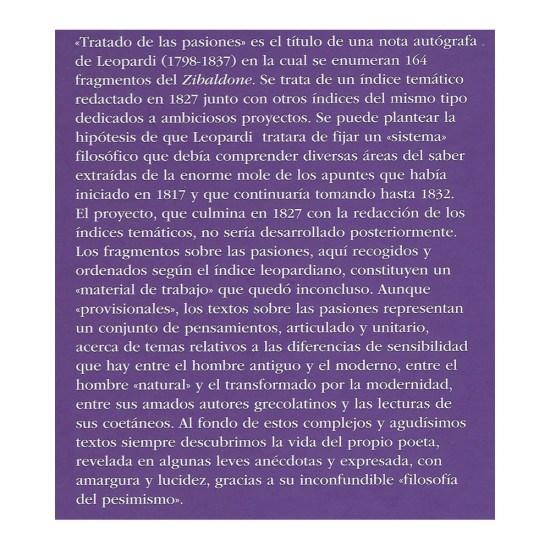 Las pasiones Giacomo Leopardi