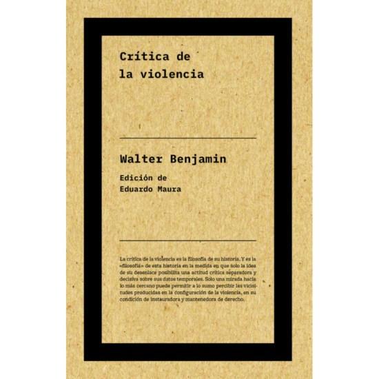 crítica de violencia Walter Benjamin