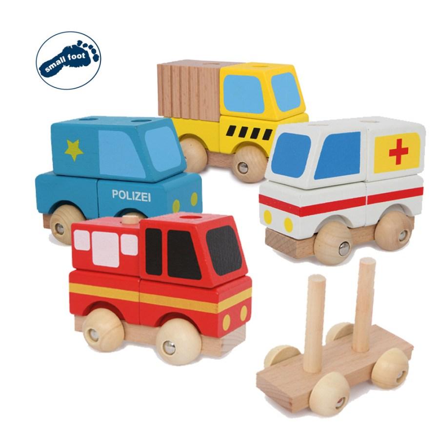 Set de vehículos de madera