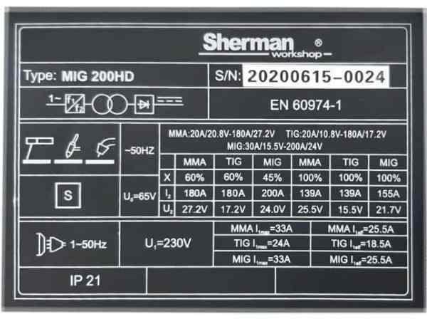 DIGIMIG 200 HD - štítek