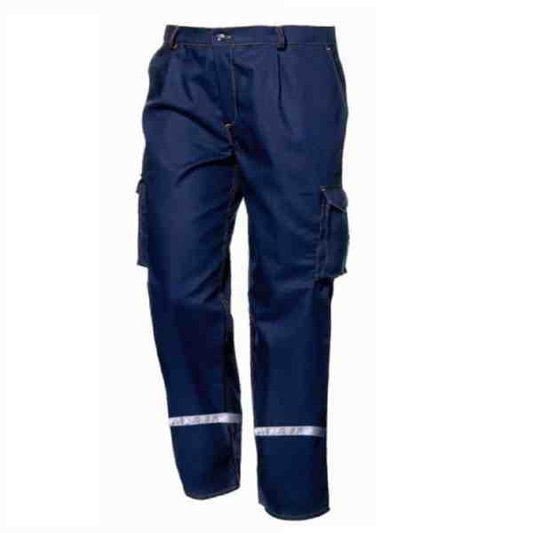 Kalhoty POLYTECH s reflexními pruhy