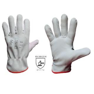 K 3 TOP celokožené pracovní rukavice z lícové kozinky - foto 1