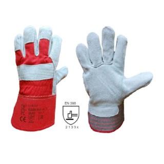 KOMBIK MAXI kombinované pracovní rukavice ze štípené hověziny - foto 1