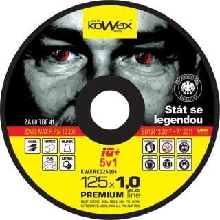 Řezný kotouč Kowax IQ+ 5v1 125 x 1,0 x 22,2 - foto 1
