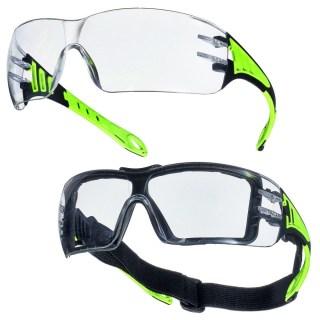 BREAKER ochranné brýle sportovního typu, čiré v sadě s rámečkem - foto 1