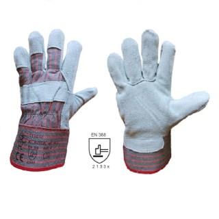 KOMBIK pracovní kombinované rukavice ze štípené hověziny - foto 1