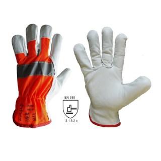 TRAFIK WINTER pracovní kombinované rukavice z hovězinové usně - foto 1
