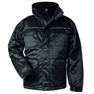 MITTENWALD černá zimní pracovní bunda z bavlny a polyesteru - foto 1