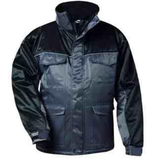 INZELL šedočerná zimní pracovní bunda z bavlny a polyesteru - foto 1