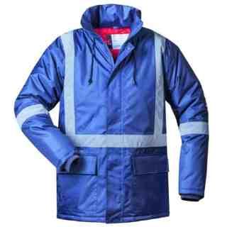 MELLUM modrá zimní pracovní bunda s reflexními pruhy - foto 1