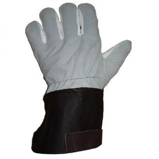 SKANTI teploodolné antivibrační rukavice z nábytkové lícové kůže - foto 1