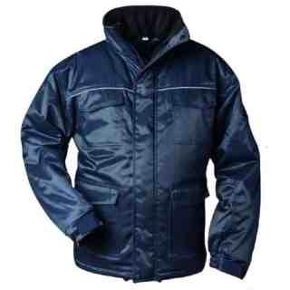OBERSTAUF modrá zimní pracovní bunda z bavlny a polyesteru - foto 1