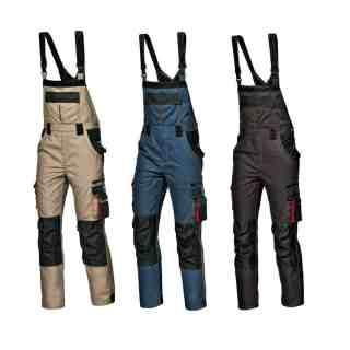 HARRISON montérkové khaki kalhoty s náprsenkou -foto 1