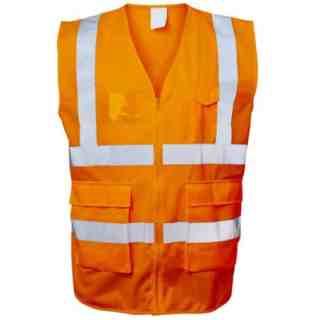 EWALD oranžová reflexní pracovní vesta ze 100% polyesteru - foto 1