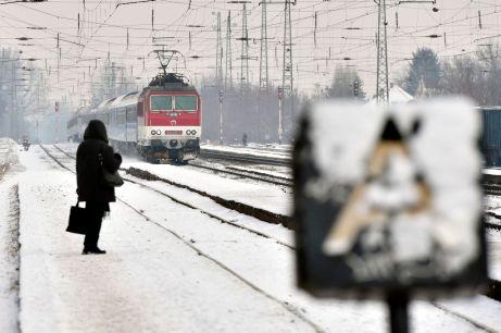 Budapest, 2017. január 12. Rákospalota-Újpest vasútállomás a havazás után 2017. január 12-én. MTI Fotó: Máthé Zoltán