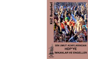 thumbnail of Bin Umut Adaylarından HDP'ye İmkanlar ve Engeller_pdf_web