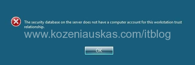 Security Database Does Not Have