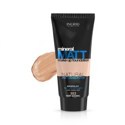 Tečni puder INGRID Mineral Matt (303 Dark Natural)