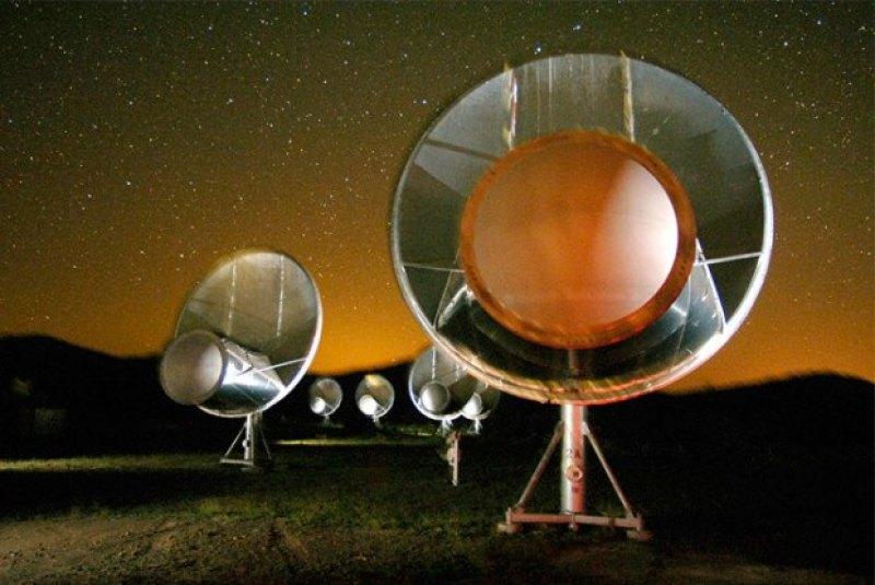 SETI'nin müthiş kulakları Allen radyoteleskop dizisi ile dinlenen WTF yıldızından maalesef akıllı hiç bir sinyal alınamadı.