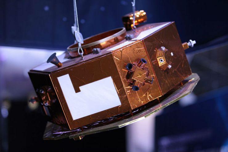 LISA Pathfinder uzay aracının bir modeli.