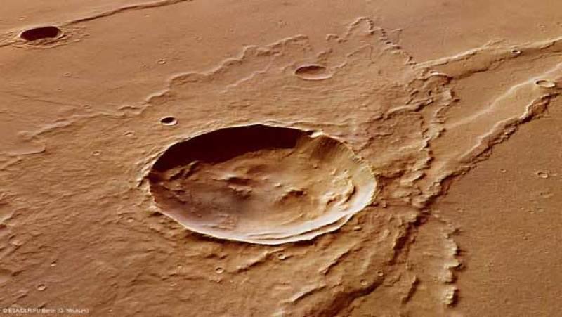 Mars-Melas_Dorsa_impact_crater