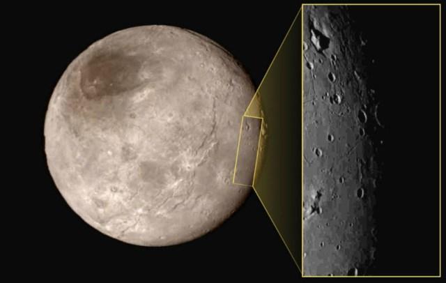 Plüton'un uydusu Charon'un Yeni Ufuklar Uzay Aracı tarafından alınmış detaylı fotoğrafları.