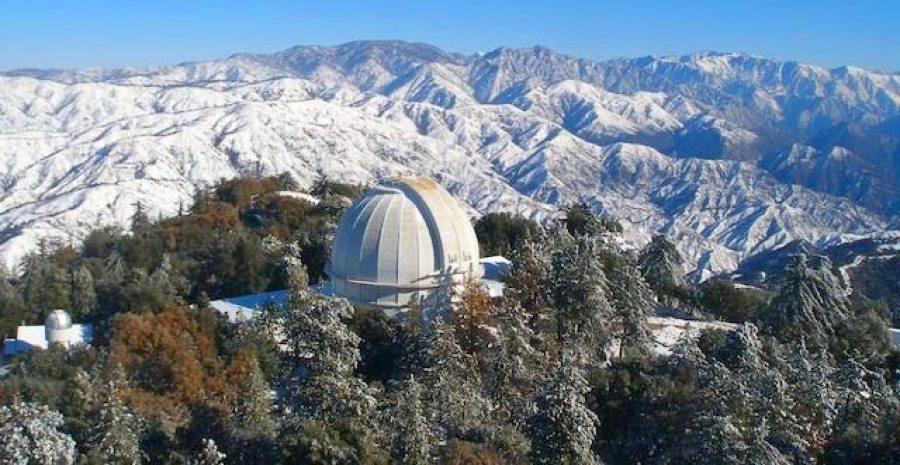 """Baade'nin """"esir"""" tutulduğu Mount Wilson Gözlemevi."""