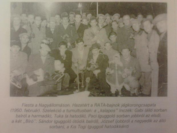 A RATA 1950-es bajnokcsapata