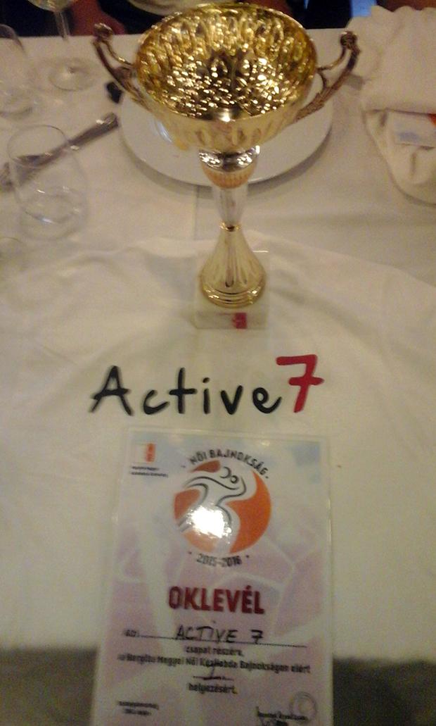 Active 7-bajnoki cím+oklevél 2016.