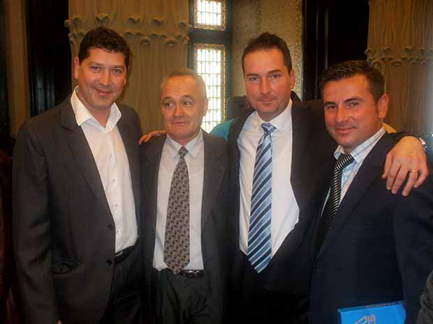 Egykori játékosaival 2015-ben -Kovacs Cornel+Porav  Cristian+Olah György+Ciorceri