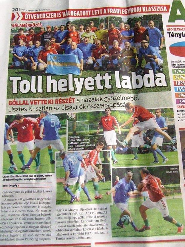 A Nemzeti Sport is írt a PRESSingről