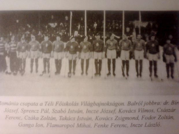 Románia válogatottját 1951-ben Incze Tuka, Incze Paci  és dr. Fenke Ferenc is erősítette