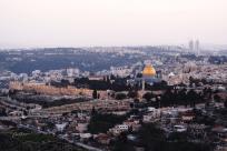 Première vue sur Jérusalem, depuis l'université.