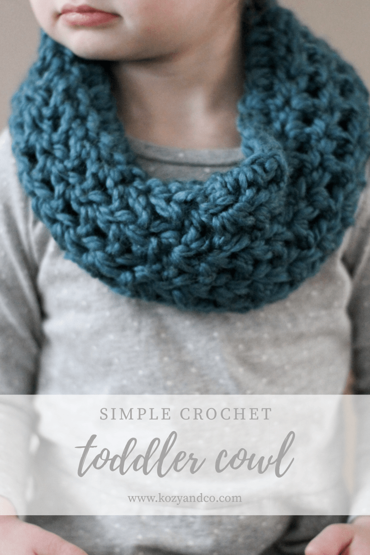 19cb7ee587388a Simple Crochet Toddler Cowl - Kozy and Co