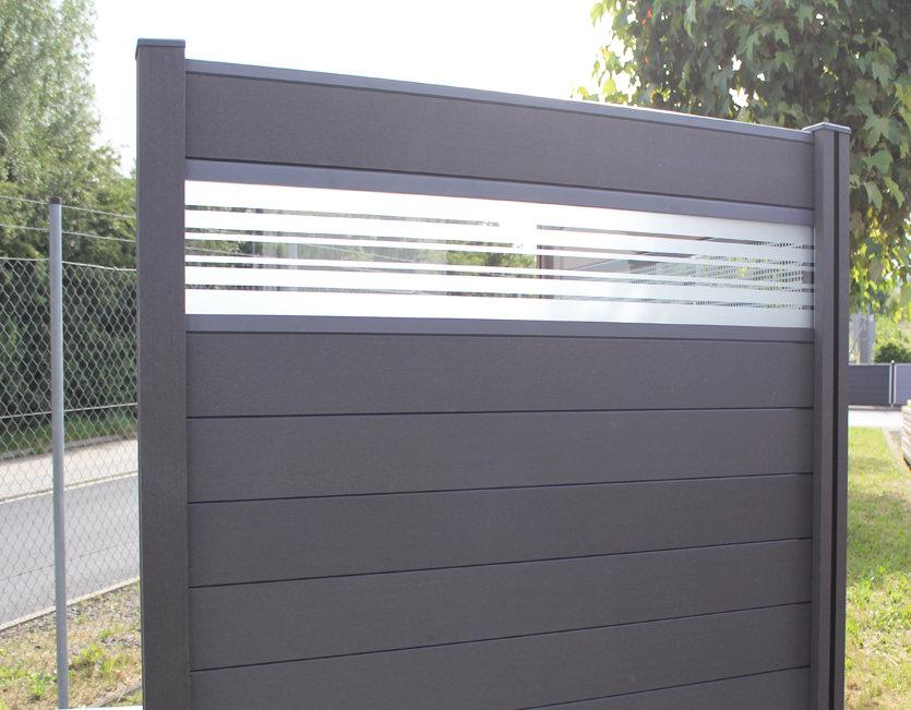Sichtschutz Garten Kunststoff Grau Sichtschutz Glas Wpc U Filout