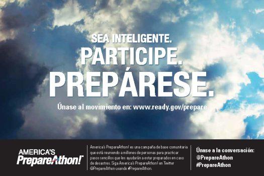 FEMA 6 BY 9 POSTCARD Spanish v2 508 Page 1 - Sea Inteligente, Participe, Preparese