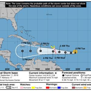 203538 5day cone no line and wind 300x300 - Boletín Tormenta Tropical Isaac, martes 11 de septiembre de 2018, 5:00pm