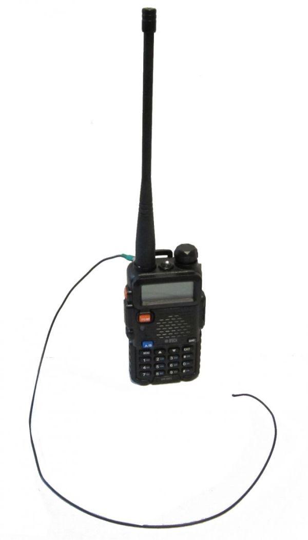 uv5x with rat tail - Mejora la ganancia de la antena de tu handy