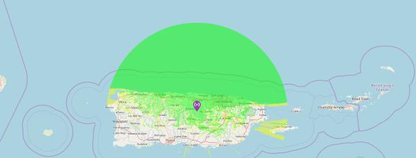 cobertura 449.200 - REPETIDOR DMR de KP3AV cubriendo el Norte de Puerto Rico