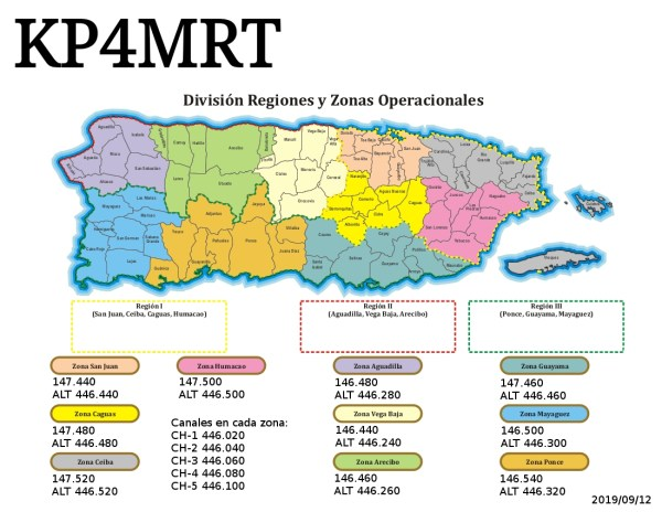 MapaZonaSimplexKP4MRT - Hoy activacion KP4MRT desde San Juan y Humacao