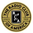 Radio Club of America RCA color logo - Anual del Día de las Fuerzas Armadas de la Cruz Comunicaciones de Banda de Prueba de Conjunto para el 14 de Mayo
