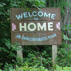 Home, Washington welcome sign